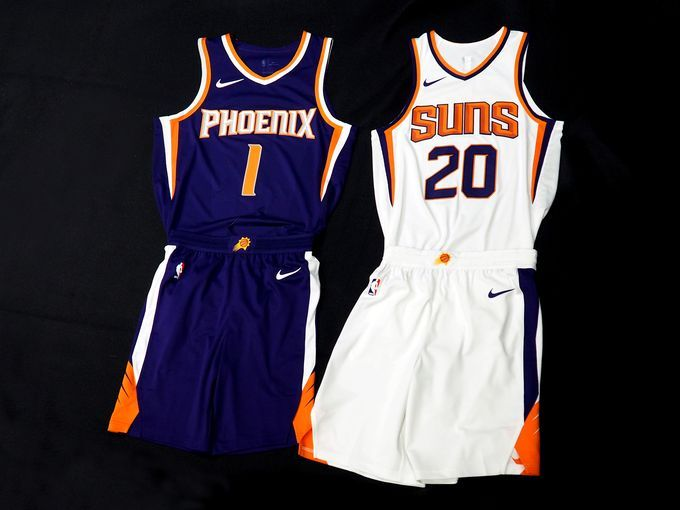 suns purple and white