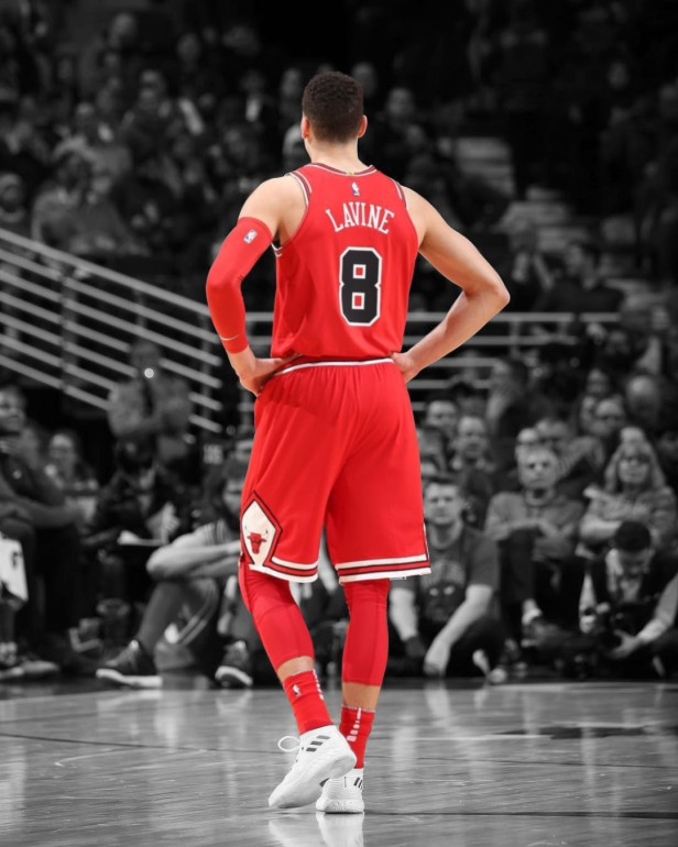 Zach LaVine Black and White