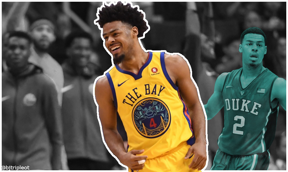 Quinn Cook, then and now