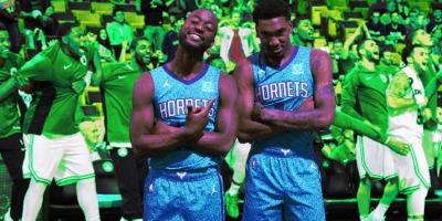 Kemba Walker and Malik Monk of the Charlotte Hornets